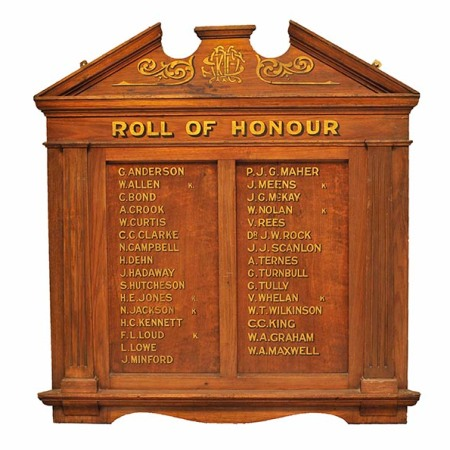 SMRC World War One Honour Roll